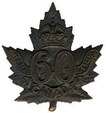 60th Cap Badge