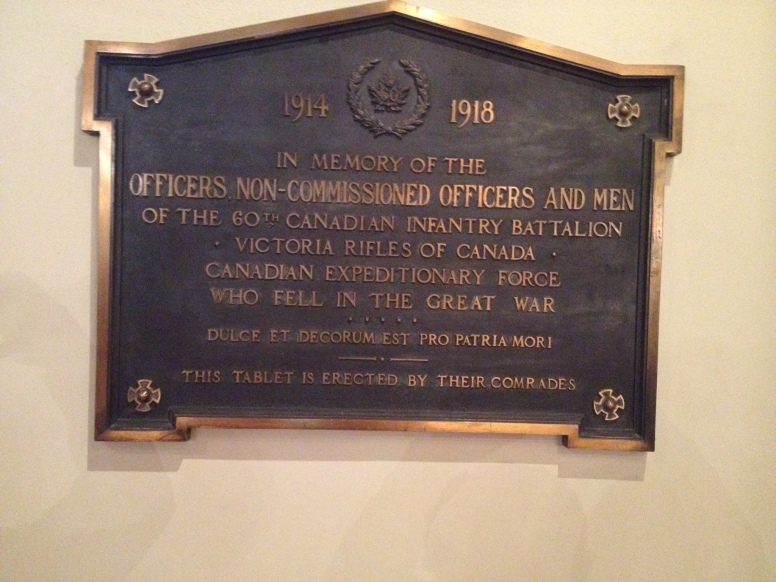 memorial Plaque to the men of the 60th