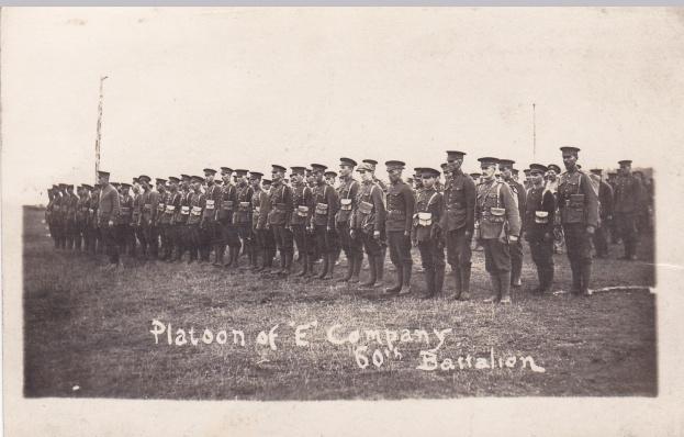 Platoon of E Coy 60th Btn