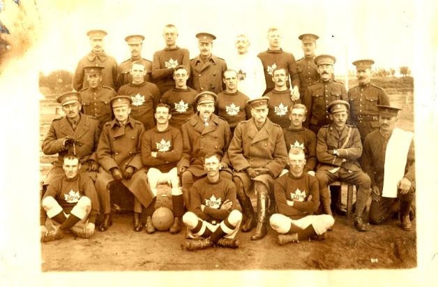 D Company Football Team Valcartier 1915