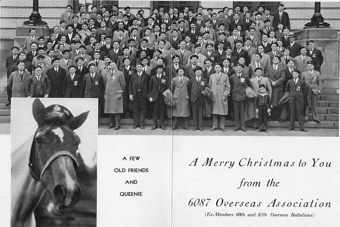 Front of Christmas Card 6087 Association